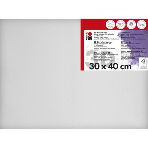 Schildersdoek 3d 30 x 40 x 3,8cm, 380 g/m²