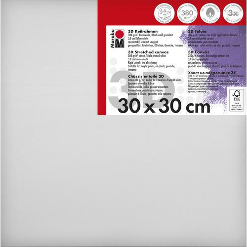 Schildersdoek 3d 30 x 30 x 3,8cm, 380 g/m²