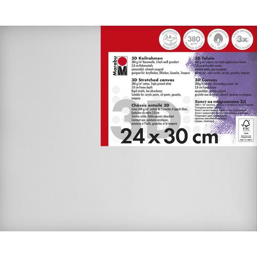 Schildersdoek 3d 24 x 30 x 3,8cm, 380 g/m²