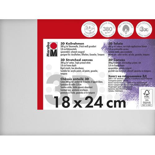 Schildersdoek 3d 18 x 24 x 3,8cm, 380 g/m²