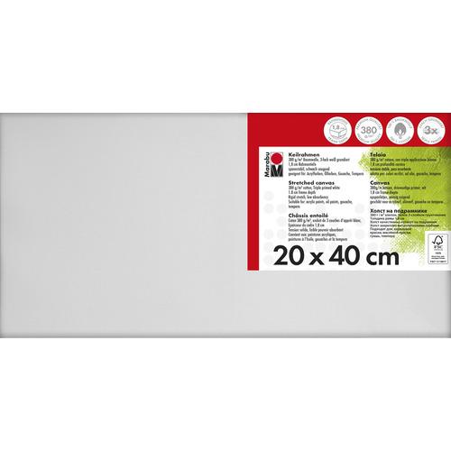 Schildersdoek 20 x 40  x 1,8 cm, 380 g/m²