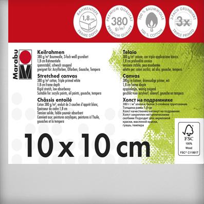 Schildersdoek  10 x 10 x 1,8 cm, 380 g/m²