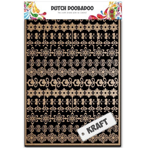 Dutch Doobadoo Dutch Paper Art kraft bloemenrand A5 479.002.002