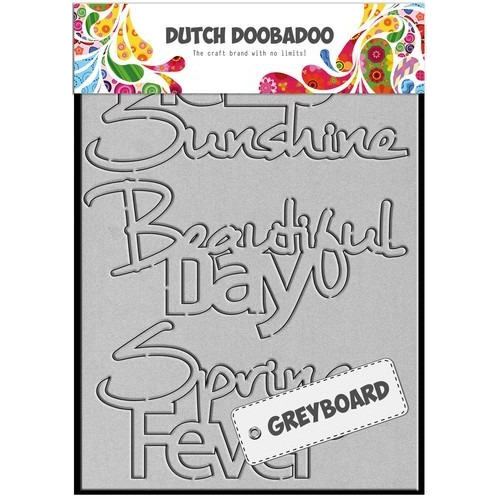 Dutch Doobadoo Dutch Greyboard Hello Sunshine A6 492.002.001