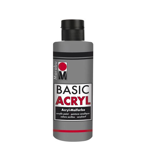 Basic Acryl busje 80 ML - Lichtgrijs