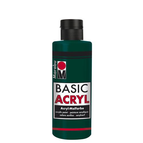 Basic Acryl busje 80 ML - Dennegroen