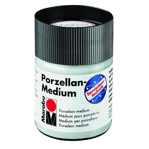 Medium voor la serviettentechniek 50 ml - Porselein lmedium