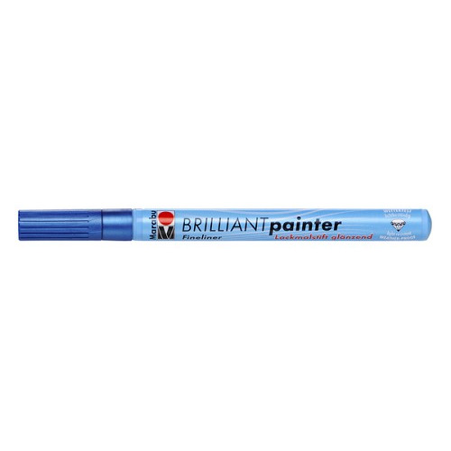 Brilliant painter 0.8 mm - Blauw metallic