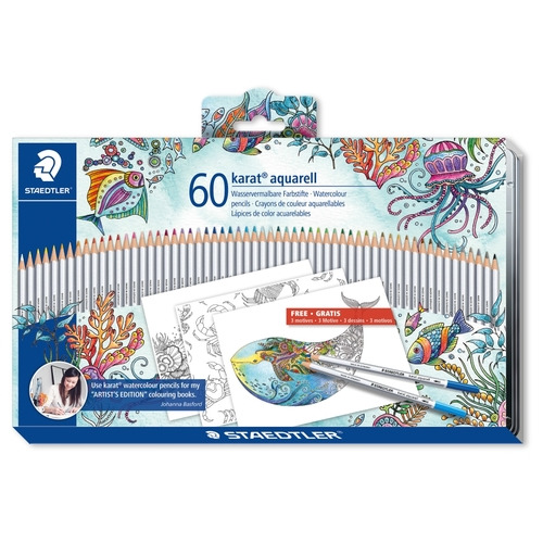 karat aquarell kleurpotlood - set 60 st J. Basford