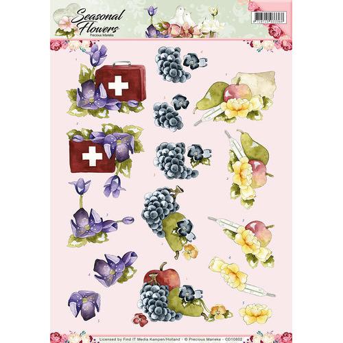 3D Knipvel - Precious Marieke - Seasonal Flowers -Beterschap