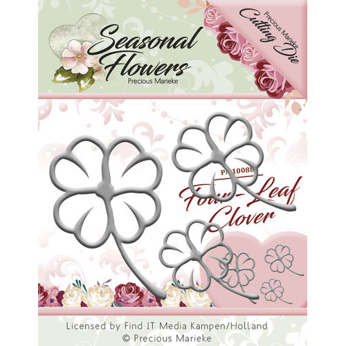 Die - Precious Marieke - Seasonal Flowers - Four Leaf Clover