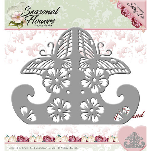Die - Precious Marieke - Seasonal Flowers - Card Stand
