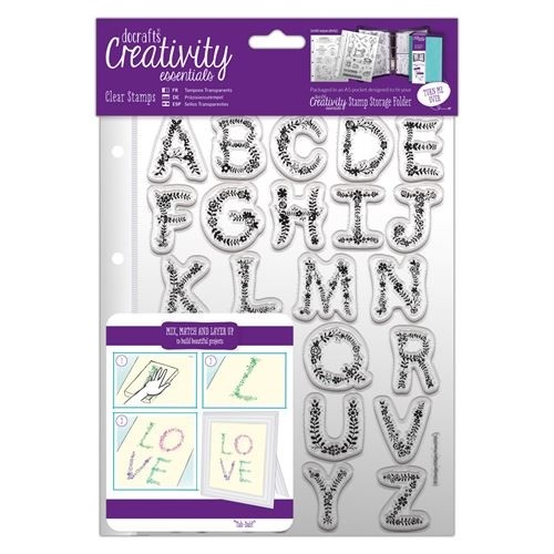 A5 Clear Stamp Set (26pcs) - Floral Alphabet