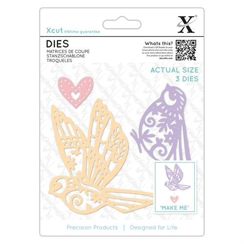 Dies (3pcs) - Patterned Birds
