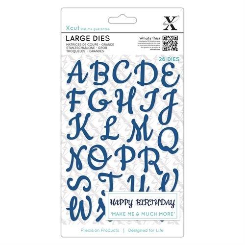 Large Dies  (26pcs) - Script Alphabet Upper Case