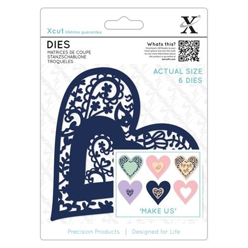 Die (6pcs) - Folk Bird Heart