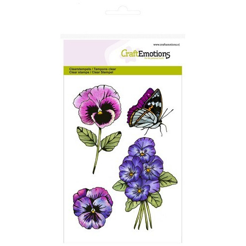 CraftEmotions clearstamps A6 - violen 2 Sweet Violets (11-16)