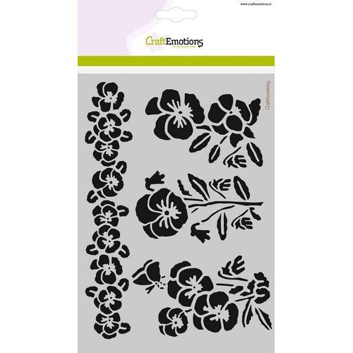 CraftEmotions Mask stencil - violen A5 Sweet Violets (11-16)