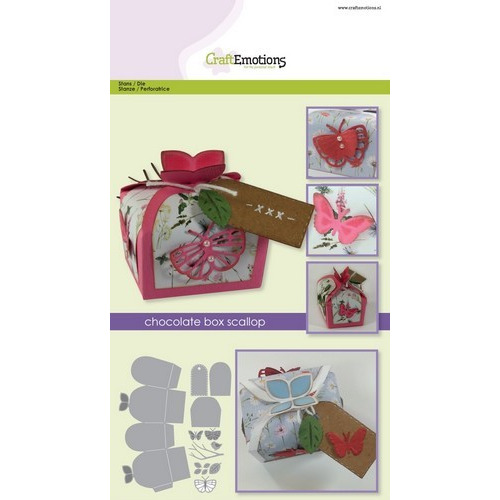 CraftEmotions Die - chocolate box butterfly Card A5 box 55x43x40 mm (02-17)