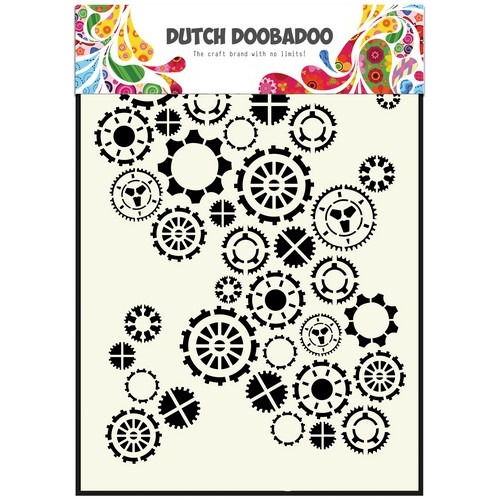 Dutch Doobadoo Dutch Mask Art stencil fine tandwielen A5 470.154.001 (12-16)