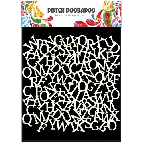 Dutch Doobadoo Dutch Mask Art stencil alfabet achtergrond 15x15cm 470.715.603 (12-16)