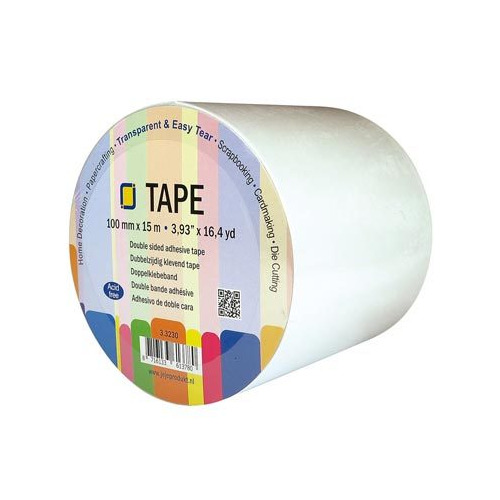 Double sided clear adhesive tape 100 mm x 15 meter