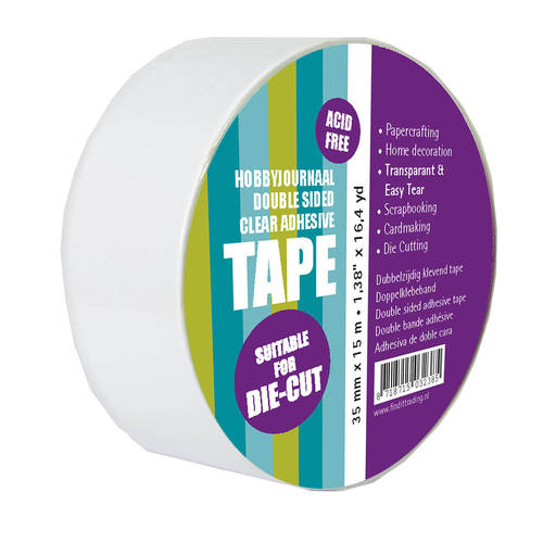 Double sided clear adhesive tape 35 mm x 15 meter