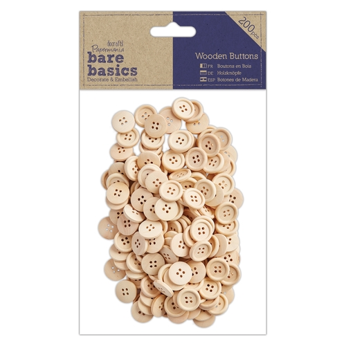 Wooden Buttons (200pcs)