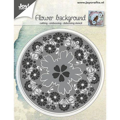 Snij-embos-debosstencil - Bloemen achtergrond
