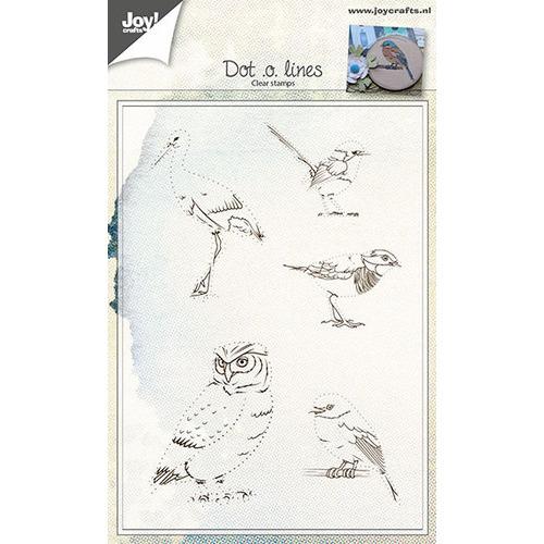Clear stempel - Vogels d.m.v. lijnen trekken