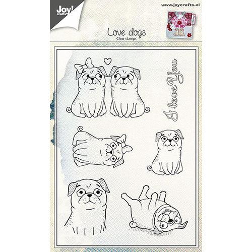 Clear stempel - Liefdes honden