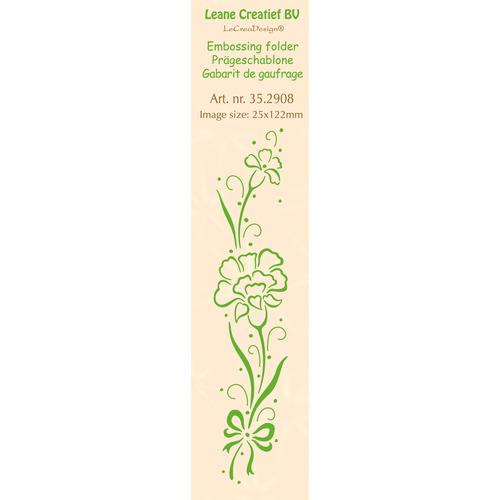 Border embossing folder Carnation 25 x 122mm
