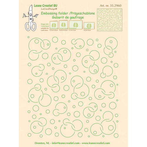 Embossing folder background Circles 14.4 x 16cm