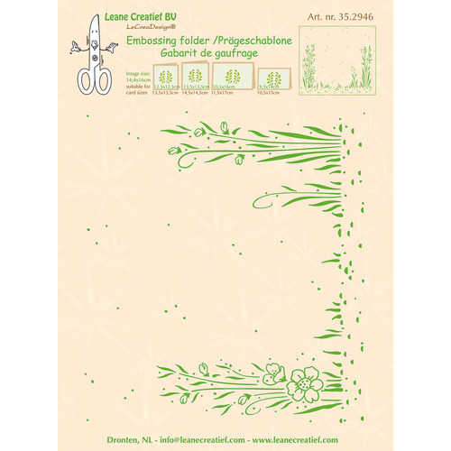 Embossing folder background Garden 14.4 x 16cm
