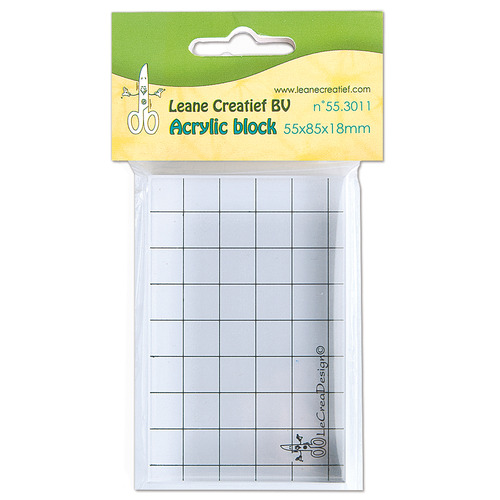 Acrylic clear stamp block 55 x 85 x 18mm