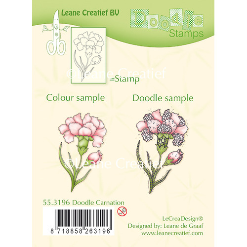 Doodle clear stamp Carnation