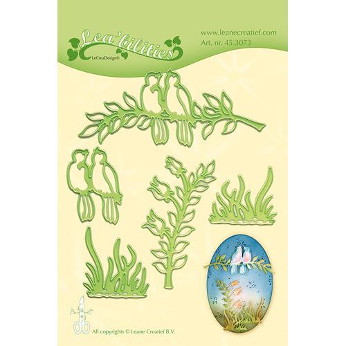 Leabilitie® Birds & Branches snij en embossing mal