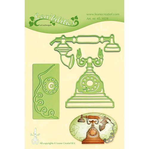 Leabilitie® Vintage Telephone snij en embossing mal