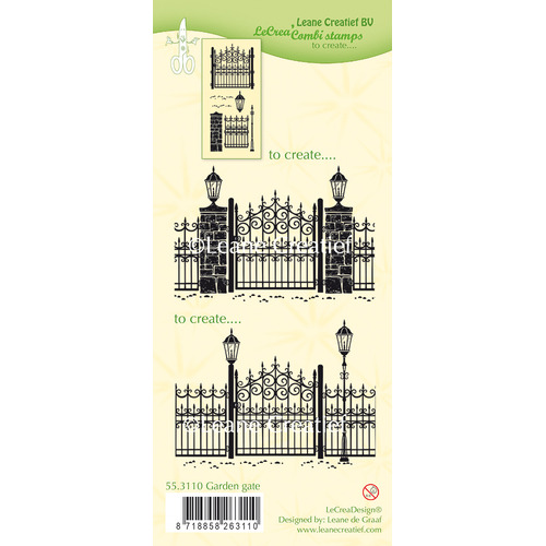 Combi clear stamp Garden gate