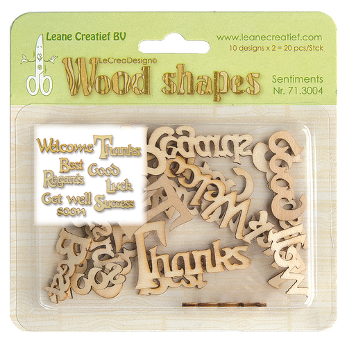 Wood shapes Sentiments