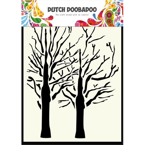 Dutch Doobadoo Dutch Mask Art stencil fine bomen A6 470.154.003 (01-17)