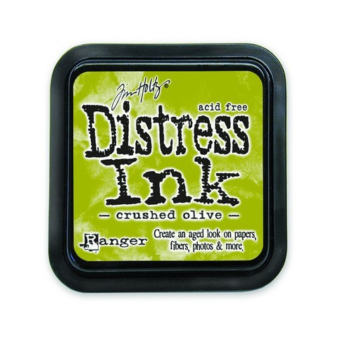 Ranger Distress Inks pad - crushed olive stamp pad TIM27126 Tim Holtz