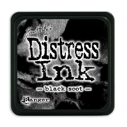Ranger Distress Mini Ink pad - black soot TDP39860 Tim Holtz