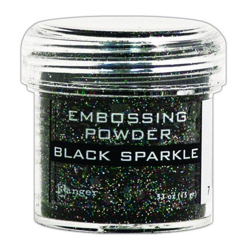Ranger Embossing Powder 34ml - black sparkle EPJ37460