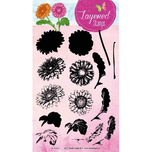 Studio Light Layered Clearstempel Margriet A5 nr 15 STAMPLS15 (01-17)