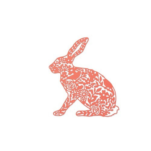 Sizzix Thinlits Die - Wild rabbit 661689 Georgia Low (01-17)