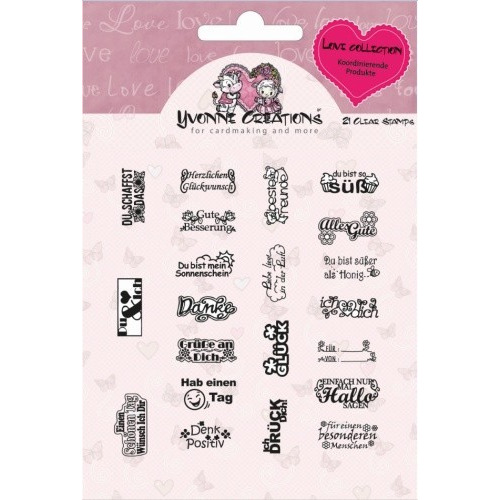 Stamp - Yvonne Creations - Love Collection - Text
