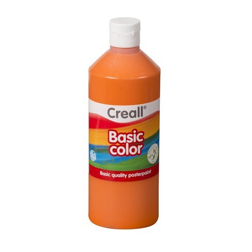 Creall Basic Color plakkaatverf - oranje 500 ML 30064