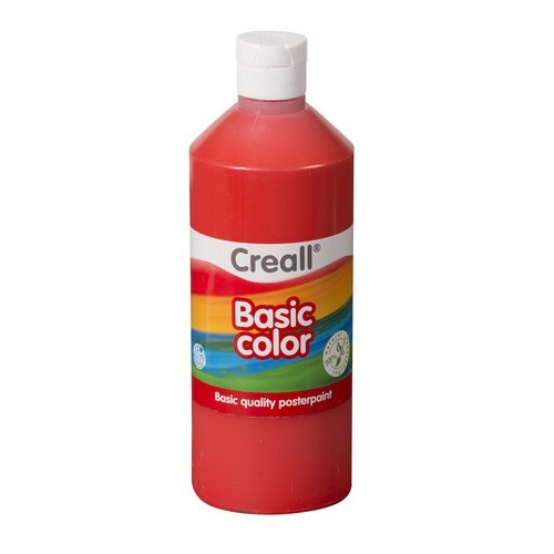 Creall Basic Color plakkaatverf - licht rood 500 ML 30065