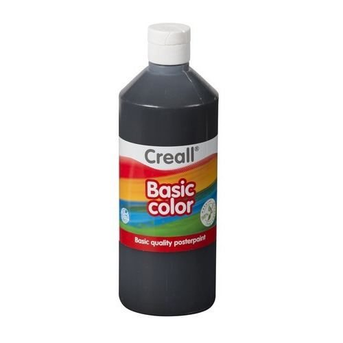 Creall Basic Color plakkaatverf - zwart 500 ML 30080